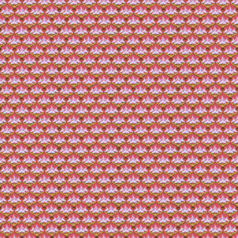 MICRO20 Flamestitch Flamingofire fabric by glimmericks on Spoonflower - custom fabric