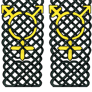Yellow Celtic Knotwork Transgender symbol