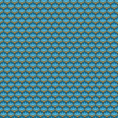 MICRO20 Flamestitch Blueflames fabric by glimmericks on Spoonflower - custom fabric