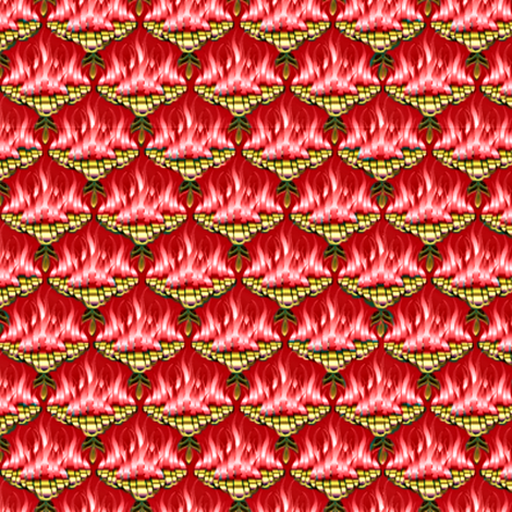 Flamestitch  Coral  fabric by glimmericks on Spoonflower - custom fabric