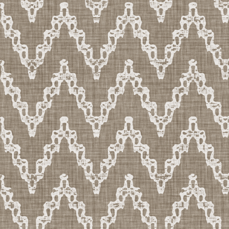 Faded French Chevrons - Brown fabric by kristopherk on Spoonflower - custom fabric