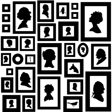 silhouette collection fabric by avelis on Spoonflower - custom fabric