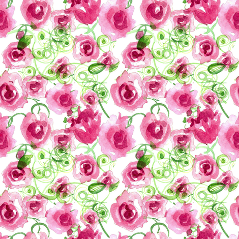 Rose Vines fabric by countrygarden on Spoonflower - custom fabric