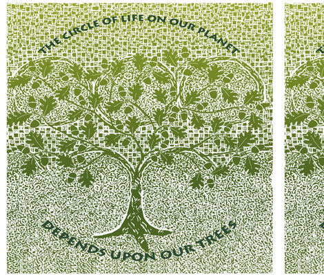 save our trees napkin fabric by lfntextiles on Spoonflower - custom fabric