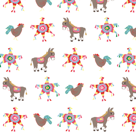 Fiesta Simpatico ©2012 Jill Bull fabric by palmrowprints on Spoonflower - custom fabric