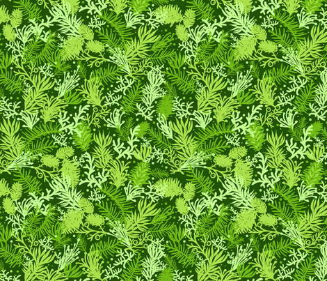 Fluffy Evergreens fabric by oksancia on Spoonflower - custom fabric