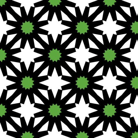 Epiphany Stars (Green) fabric by nekineko on Spoonflower - custom fabric