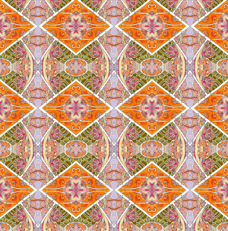 Orange Harlequin Argyle fabric by edsel2084 on Spoonflower - custom fabric