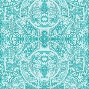 In a Victorian Lace Head Space (aqua)