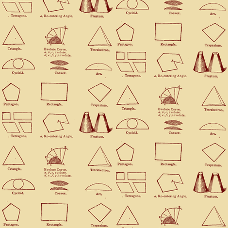 Geometry Lesson from the 1880's fabric by edsel2084 on Spoonflower - custom fabric