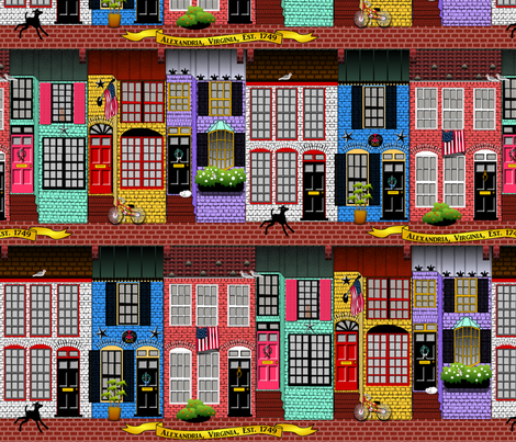 Alexandria, Virginia fabric by glimmericks on Spoonflower - custom fabric