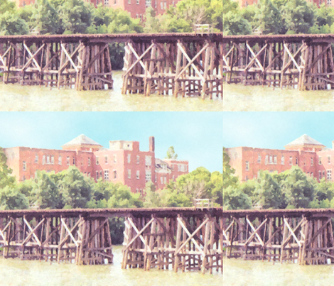N.S.&T. Trestle Bridge 2, L fabric by animotaxis on Spoonflower - custom fabric