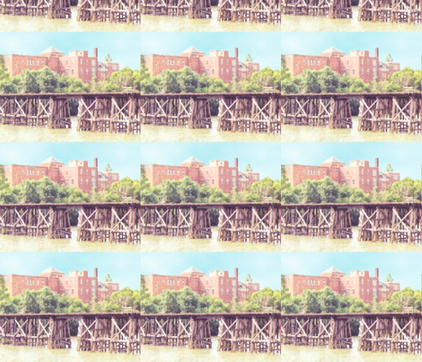 N.S.&T. Trestle Bridge 2, S fabric by animotaxis on Spoonflower - custom fabric