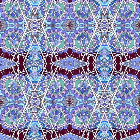 Bless Their Pointed Thistle Heads fabric by edsel2084 on Spoonflower - custom fabric