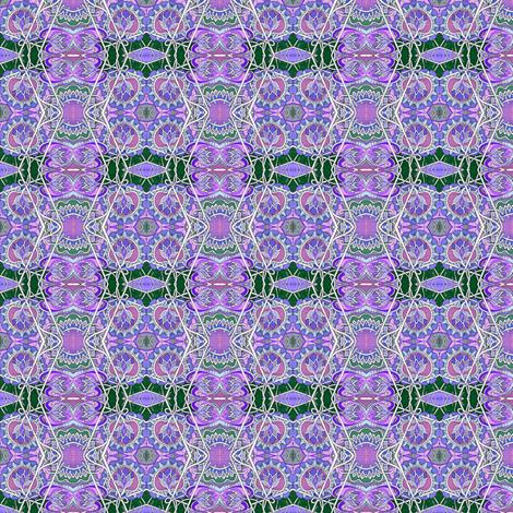 Purple and Green Zig Zag vertical stripe  fabric by edsel2084 on Spoonflower - custom fabric