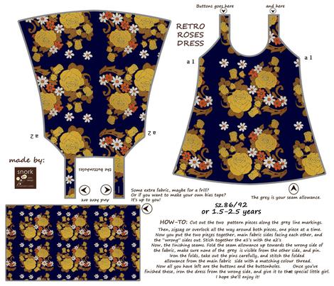 retro_roses_dress fabric by snork on Spoonflower - custom fabric