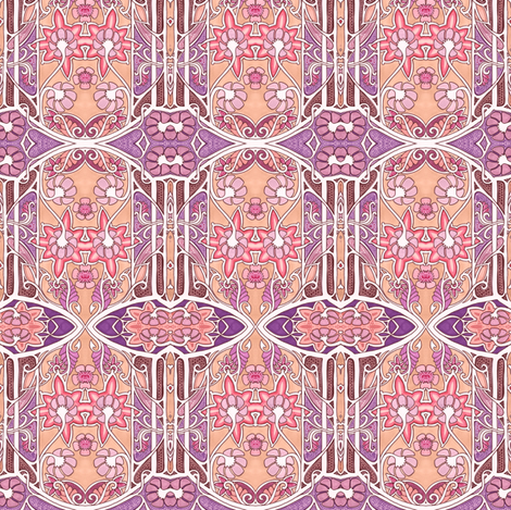 Lady Garden fabric by edsel2084 on Spoonflower - custom fabric