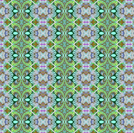 You Light Up My Chain Link Fence fabric by edsel2084 on Spoonflower - custom fabric