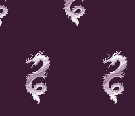 Lilac Dragon, L fabric by animotaxis on Spoonflower - custom fabric