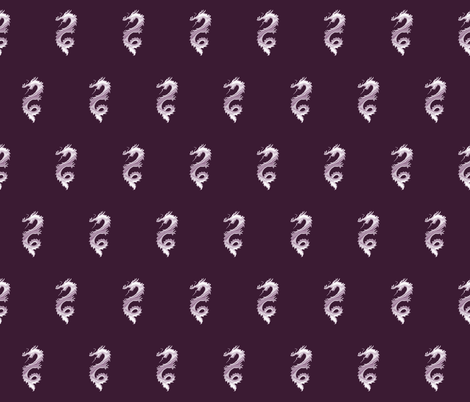 Lilac Dragon, S fabric by animotaxis on Spoonflower - custom fabric