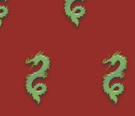Jade Dragon, L fabric by animotaxis on Spoonflower - custom fabric