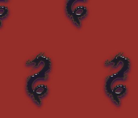 Indigo Dragon, L fabric by animotaxis on Spoonflower - custom fabric