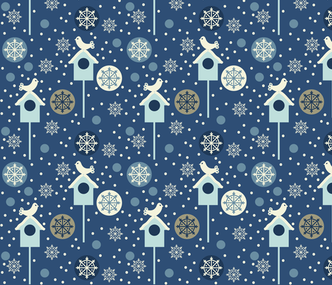 snowbirds_small fabric by lilliblomma on Spoonflower - custom fabric