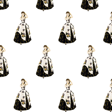 Porcelain statue of princess fabric by vinkeli on Spoonflower - custom fabric