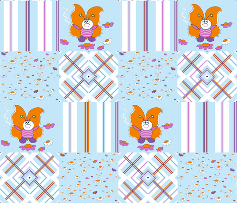 Butterfly cheater quilt fabric by alfabesi on Spoonflower - custom fabric