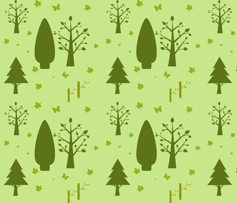 ever green  fabric by raasma on Spoonflower - custom fabric