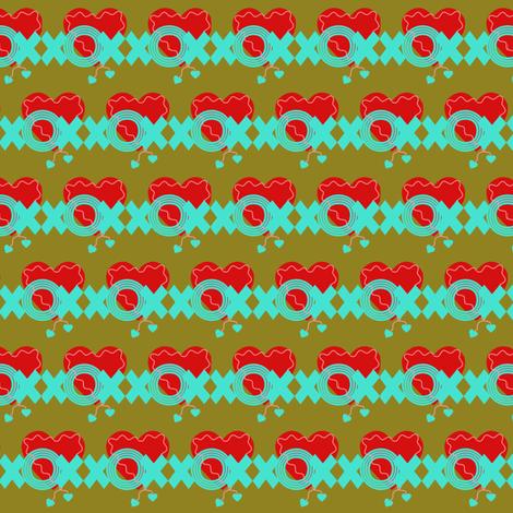 xox=hearts fabric by tinhearts on Spoonflower - custom fabric