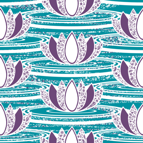 Lotus fabric by siya on Spoonflower - custom fabric