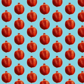 Pomegranates pur turquoise