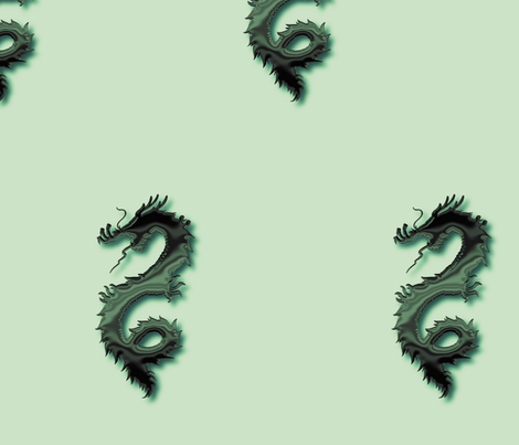 Forest Green Dragon, L fabric by animotaxis on Spoonflower - custom fabric
