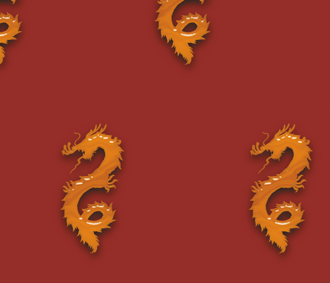 Amber Dragon, L fabric by animotaxis on Spoonflower - custom fabric