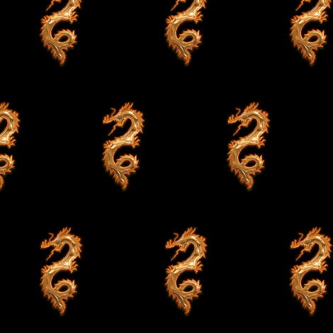 Copper Dragon, S fabric by animotaxis on Spoonflower - custom fabric