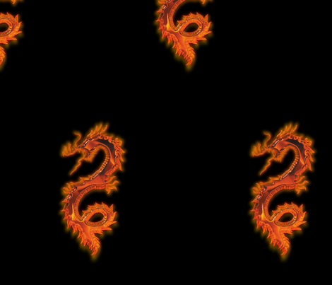 Fiery Dragon, L fabric by animotaxis on Spoonflower - custom fabric