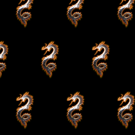 Steel Dragon, S fabric by animotaxis on Spoonflower - custom fabric