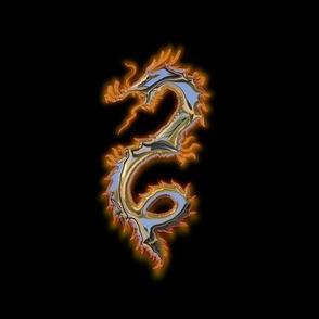 Polished Metal Dragon, L