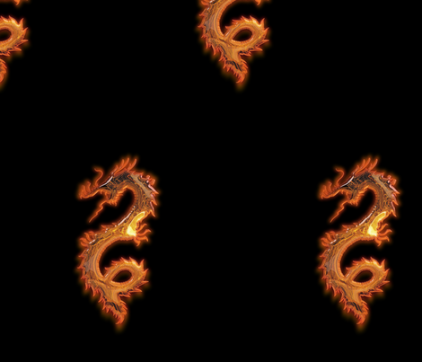 Glowing Gold Dragon, L fabric by animotaxis on Spoonflower - custom fabric