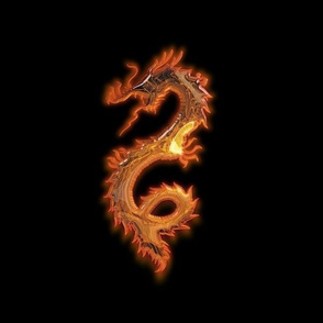 Glowing Gold Dragon, L