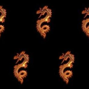 Glowing Gold Dragon, S