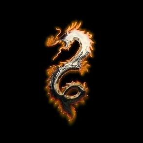 Fiery Pale Gold Dragon, L