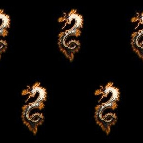 Fiery Pale Gold Dragon, S