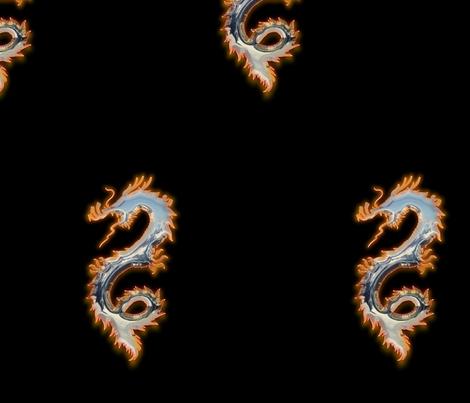 Fiery Tin Dragon, L fabric by animotaxis on Spoonflower - custom fabric