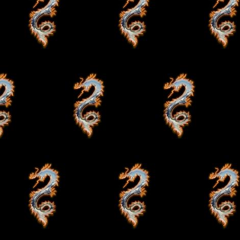 Fiery Tin Dragon, S fabric by animotaxis on Spoonflower - custom fabric