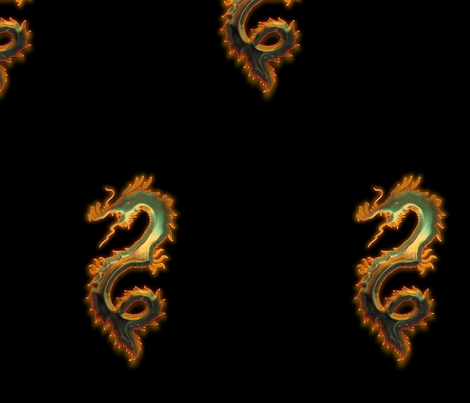 Fiery Copper Patina Dragon, L fabric by animotaxis on Spoonflower - custom fabric