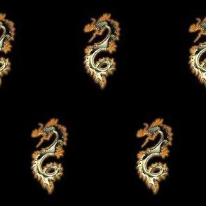 Fiery Green Gold Dragon, S