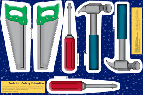 """26"""" Tools for Safety Education fabric by engravogirl on Spoonflower - custom fabric"""