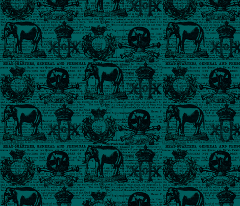 regiment1 dark petroleum fabric by susiprint on Spoonflower - custom fabric
